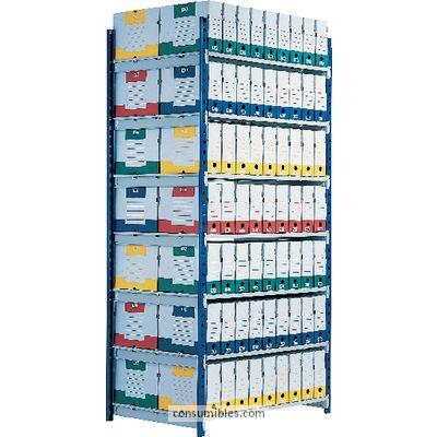 PAPERFLOW ESTANTERIA RANGO PLUS 2000X1000X700MM 7 NIVELES METALICA 7217D