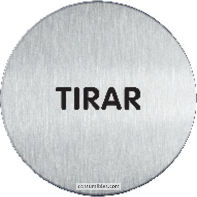 DURABLE PICTOGRAMA INFORMATIVO TIRAR 65 MM ACERO INOX REDONDO 4901-65