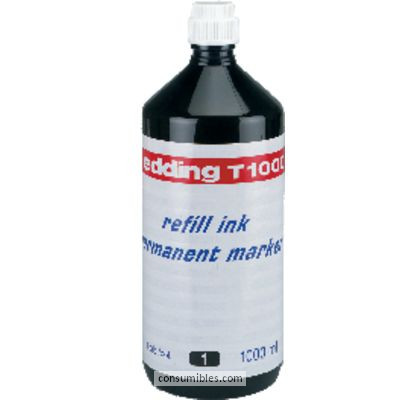 Tinta de rellenado EDDING FRASCO DE TINTA T-1000 NEGRO 1000 ML T1000-01