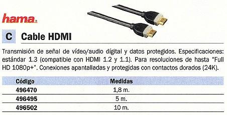 Comprar Hdmi 1 8M 496470 de Hama online.