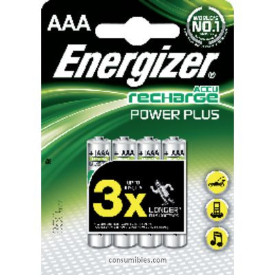 Pilas recargables ENERGIZER PILA RECARGABLE PACK 4 UD AAA HR03 4 UD 635207