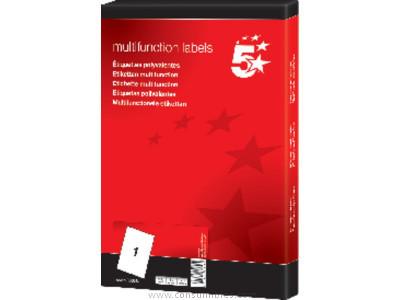 5 STAR ETIQUETAS ILC CAJA 100 HOJAS 6500 UD 38,1 X 21,2 BLANCAS 903792