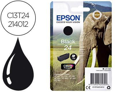 Epson Cartucho de tinta negro C13T24214012 T2421 240 Copias 5.1ml