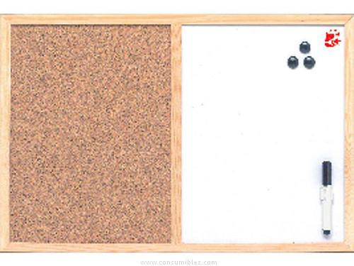 5 STAR TABLERO ANUNCIOS 60X90 CM CORCHO+PIZARRA BLANCA MX07001010