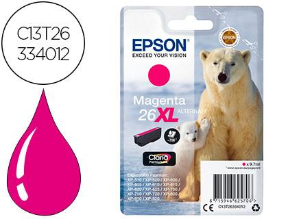Epson Cartucho de tinta magenta C13T26334012 T2633 700 Copias 9.7ml Cartucho XL