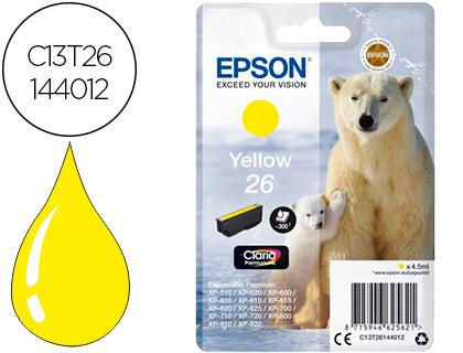 Epson Cartucho de tinta amarillo C13T26144012 T2614 300 Copias 4.5ml estándard