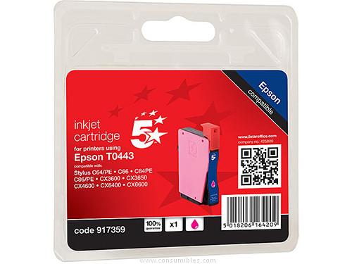 5 STAR CARTUCHOS INYECCION MAGENTA EPSON T0443 MAGENTA COMPATIBLE 111E004403