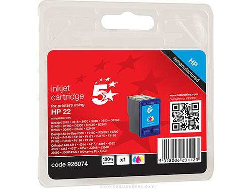 5 STAR CARTUCHOS INYECCION TRICOLOR HP C9352AE TRICOLOR COMPATIBLE 111H002213