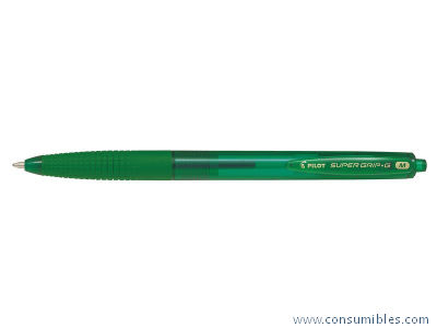 BOLIGRAFO RETRACTIL SUPERG VERDE. DIAMETRO DE BOLA 1 MM BPGG-8R-M-G
