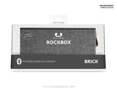 FRNR ALTAVOZ ROCKBOX LADRILLO FABRIC EDITION BLUETOOTH CONCRETE 1RB3000CC