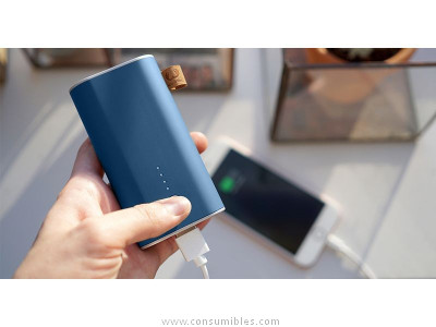 FRESH N REBEL POWERBANK 6000 MAH INDIGO, BATERIA RECARGABLE AZUL 2PB2000IN