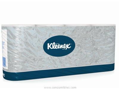 papel higienico KLEENEX PAQUETE DE6 ROLLOS PEQUENOS DE 150 SERVICIOS DE 9,3 X 12,7CM 1 CAPA AIRFLEX 8443