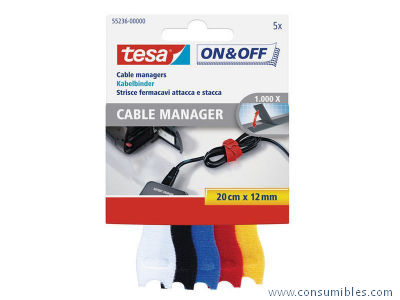ORGANIZADOR CABLES MANAGER 20 CM X 12 MM 55236-00000-01