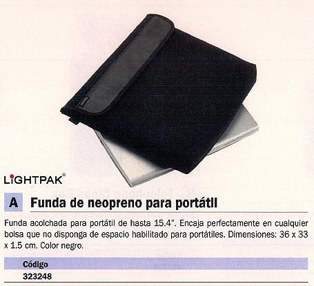 LIGHTPAK FUNDA PARA PORTATIL NEOPRENO 15 PULGADAS 35,5X32X5,1CM.COLOR NEGRO 46006