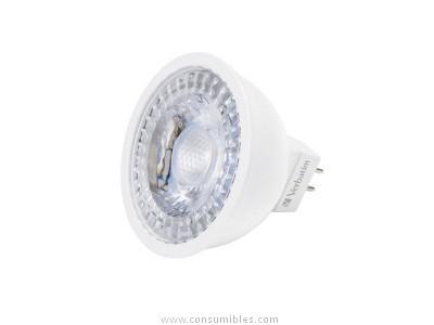 Iluminacion VERBATIM LED GU5.3 3.3W EQUIVALE A 25W / 2700K 250LM 35 GRADOS APERTURA 52645