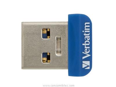 VERBATIM MEMORIA USB 3.0 NANO 64GB STORE N STAY AZUL 98711
