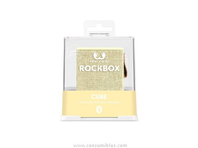 FRESH N REBEL ALTAVOZ ROCKBOX CUBO BUTTERCUP BLUETOOTH AMARILLO PASTEL 1RB1000BC