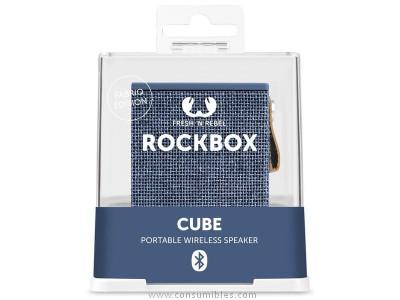 FRESH N REBEL ALTAVOZ ROCKBOX CUBO INDIGO BLUETOOTH AZUL PASTEL 1RB1000IN