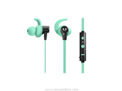 FRESH N REBEL AURICULAR LACE SPORTS EARBUDS CONCRETE INALÁMBRICO INTRAURAL VERDE PASTEL 3EP200PT