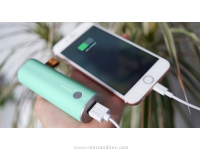 FRESH N REBEL POWERBANK 3000 MAH PEPPERMINT, BATERIA RECARGABLE VERDE PASTEL 2PB1000PT