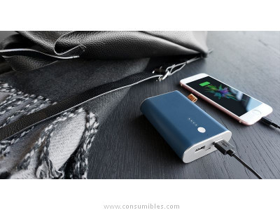 FRESH N REBEL POWERBANK 9000 MAH INDIGO, BATERIA RECARGABLE AZUL 2PB3000IN