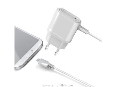 CELLY CARGADOR MICRO USB BLANCO (SMARTPHONE UNIVERSAL) TCMICROW