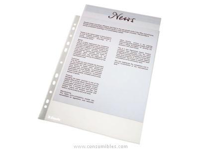 ESSELTE BOLSA 10 FUNDAS TRANS.,MATERIAL:PVC Y PP,ACABAD.CRISTAL,PIEL DE NARANJA,11 MULTITALADRO56094
