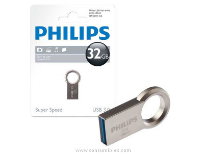 PHILIPS MEMORIA USB 3.0 32GB CIRCLE EDITION ACERO INOXIDABLE FM32FD145B