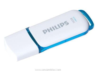PHILIPS MEMORIA USB 2.0 16GB SNOW EDITION AZUL FM016FD70B
