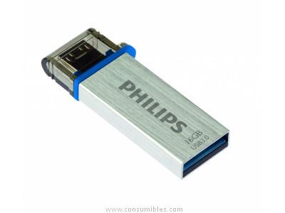 PHILIPS MEMORIA USB 3.0 16GB MONO EDITION COLORES SURTIDOS FM16DA132B