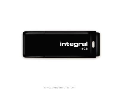 INTEGRAL 16GB NEGRO USB 2.0 FLASH DRIVE
