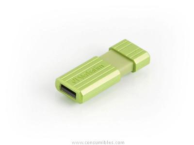 VERBATIM USB DRIVE 2,0 PINSTRIPE 16GB STORE ´N´GO EUCALYPTUS GREEN 49070