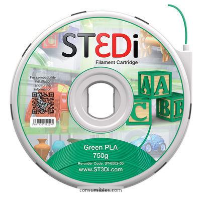 Filamentos ST3DI FILAMENTO VERDE 750G PLA ST-6002-00