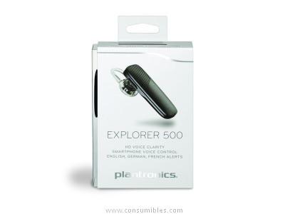 PLANTRONICS AURICULAR EXPLORER 500 NEGRO MONOAURAL CARGADOR CORREA USB
