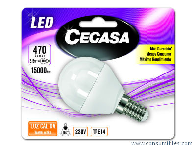 LED ESFERICA 5 5W-40W BL1 E14 CALIDA 470LM 323786