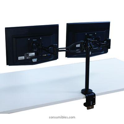 FELLOWES BRAZO FLEXIBLE DOBLE PRA MONITOR PROFESSIONAL 8041701