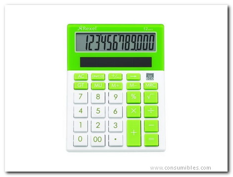 Calculadoras de sobremesa REXEL CALCULADORA SOBREMESA 12 DIGITOS JOY VERDE 2104234