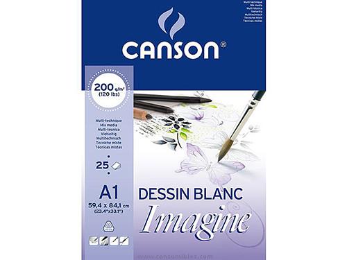 ENVASE DE 3 UNIDADES CANSON BLOC IMAGINE 25 HOJAS 200G. A1 200005969