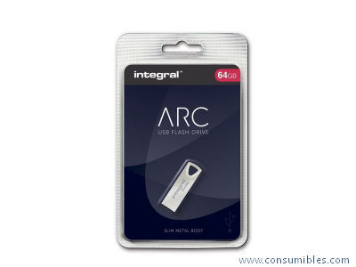 MEMORIA ARC USB 2.0 64GB METAL INFD64GBARC