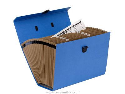 ENVASE DE 5 UNIDADES FELLOWES MALETIN CLASIFICADOR ACORDEON BANKERS BOX AZUL REF.9352201