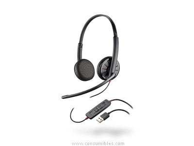 Auriculares con cable PLANTRONICS AURICULAR CABLE (USB-JACK) BLACKWIRE C325 M