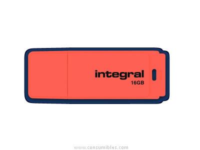 INTEGRAL NEON USB 2.0 FLASH DRIVE 16GB ORANGE