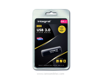 INTEGRAL NOIR 3.0 FLASH DRIVE 110MB/S 64GB