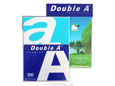 DOUBLE A PAQUETE 100 HOJAS A4 80G A4 REAM100HJ