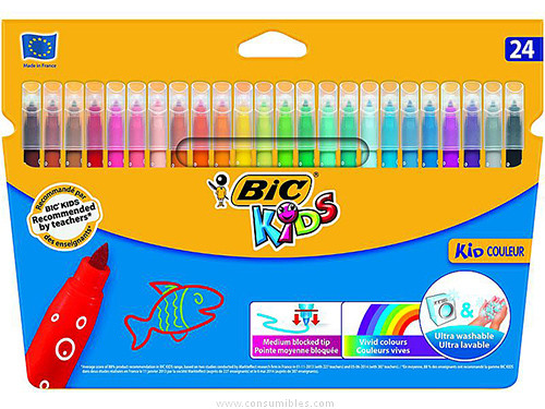 BICKIDS CAJA 24 ROTULADORES ULTRALAVABLES COULEUR 841800