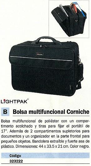 BOLSA MULTIFUNCIONAL CORNICHE POLIESTER 17 PULGADAS 46X34X16CM COLOR NEGRO 46075
