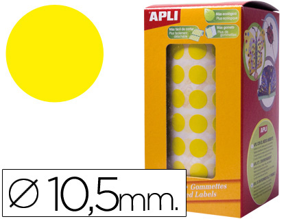 APLI GOMETS ROLLO 10,5 MM AMARILLO 4851