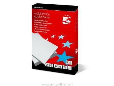 ENVASE DE 5 UNIDADES 5 STAR PAPEL MULTIFUNCIONCOPIER 500H 80 G. A4 CIE 161