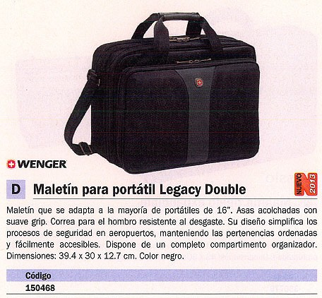 Portatiles WENGER FUNDA PORTATIL DOBLE 16 PULGADAS WA 7652 14