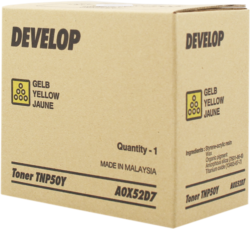 Develop Tóner amarillo A0X52D7 TNP-50Y 5000 páginas